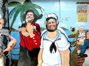 Jay (Popeye) and I (Olive oyl!)