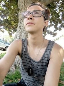 Taking a break under a tree. :)