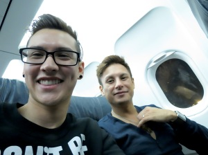 On our way to Ft Lauderdale. The plane was so ghetto.
