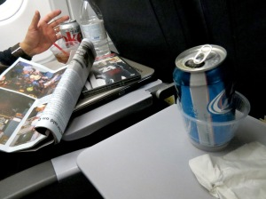 Pre-gaming on the plane