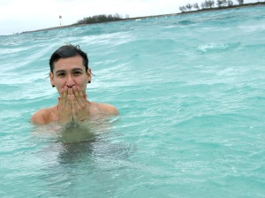 Water was cold!