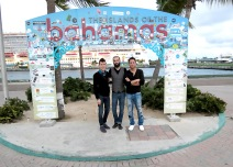 In front of the Bahamas sign haaayyy.