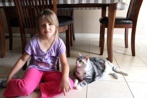 My niece and Meow Meow!