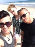 Ginger Rogers beach with Matt and Scott.