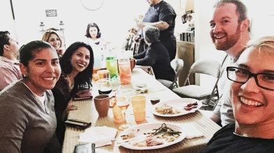 Diana, Leslie, Nick, and I